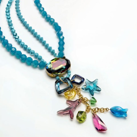 Summer ocean necklace merchants overseas blog the staple item is the large 30x22mm vitrail medium 4127 fancy stone as you make your way further solutioingenieria Image collections